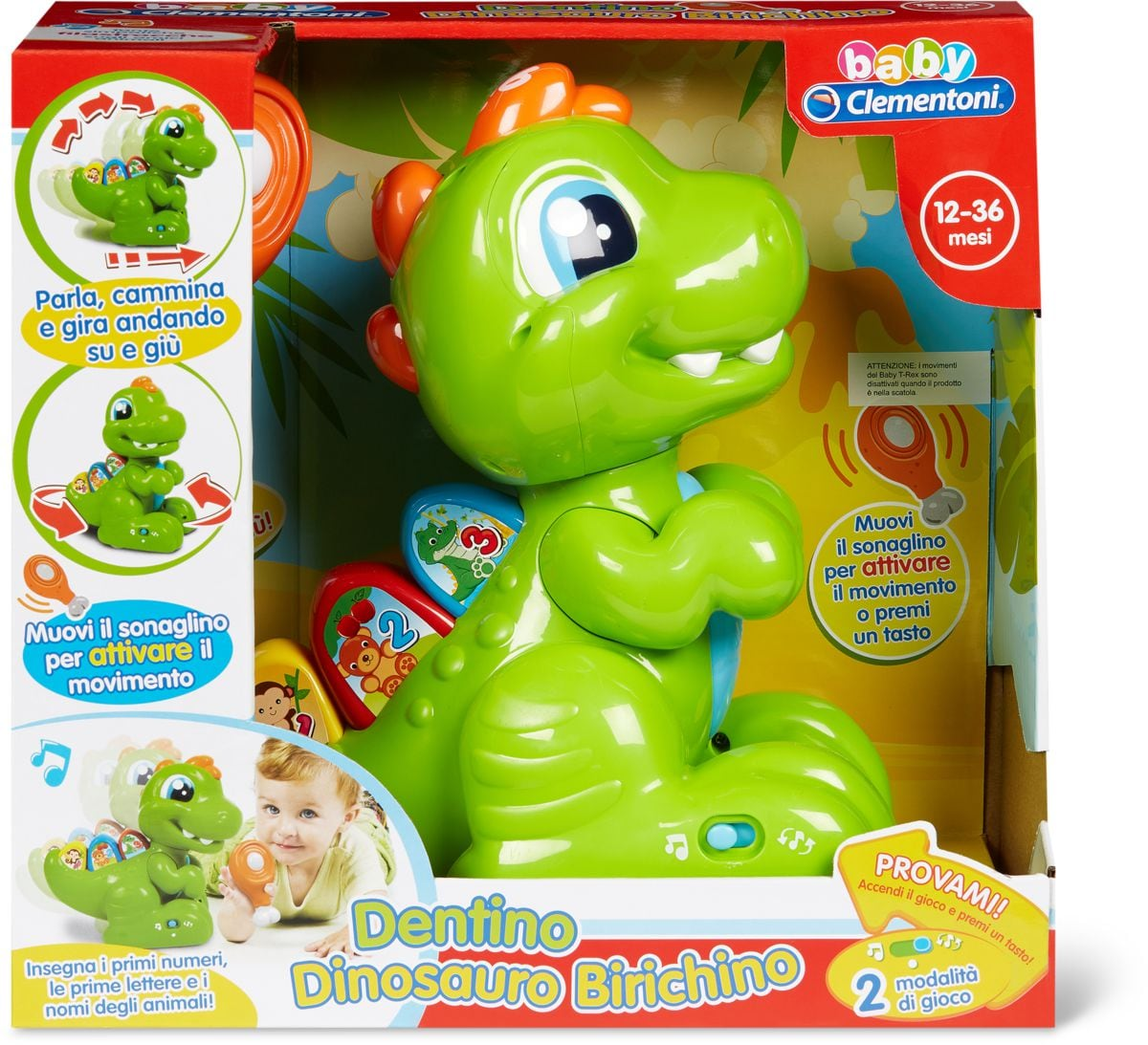Clementoni Dentino Dinosauro Giochi educativi