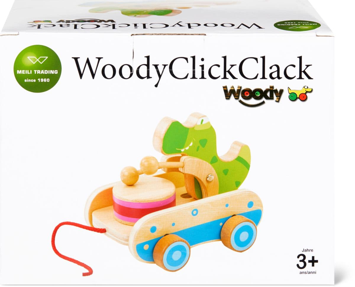 Woody Crocodile Pull Along Set di giocattoli