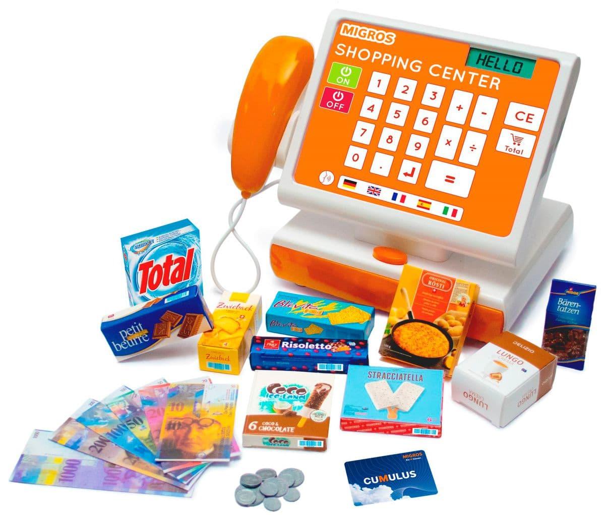 Caisse Migros avec scanner et mini-produits