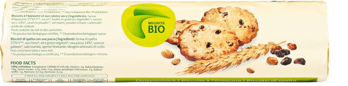 Bio Biscotti di spelta