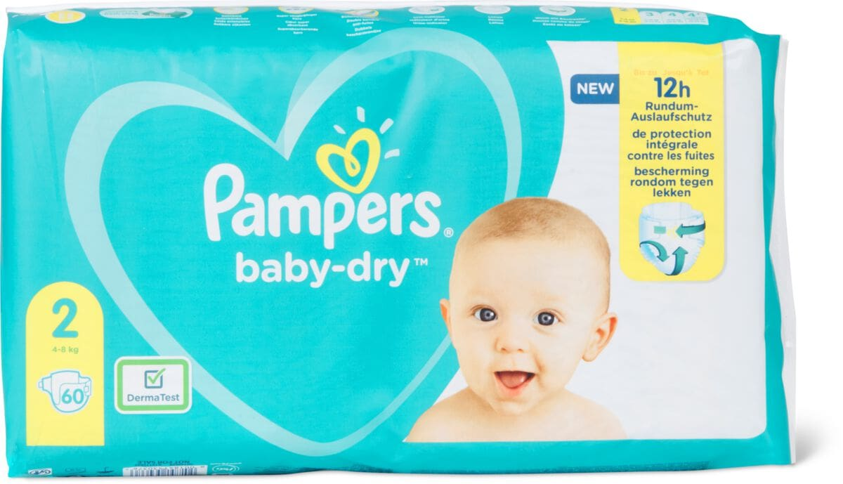 Pampers Baby Dry Gr. 2, Mini 4-8kg