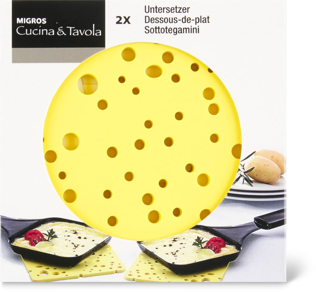 Cucina & Tavola Raclette-Untersetzer, 2 Stück