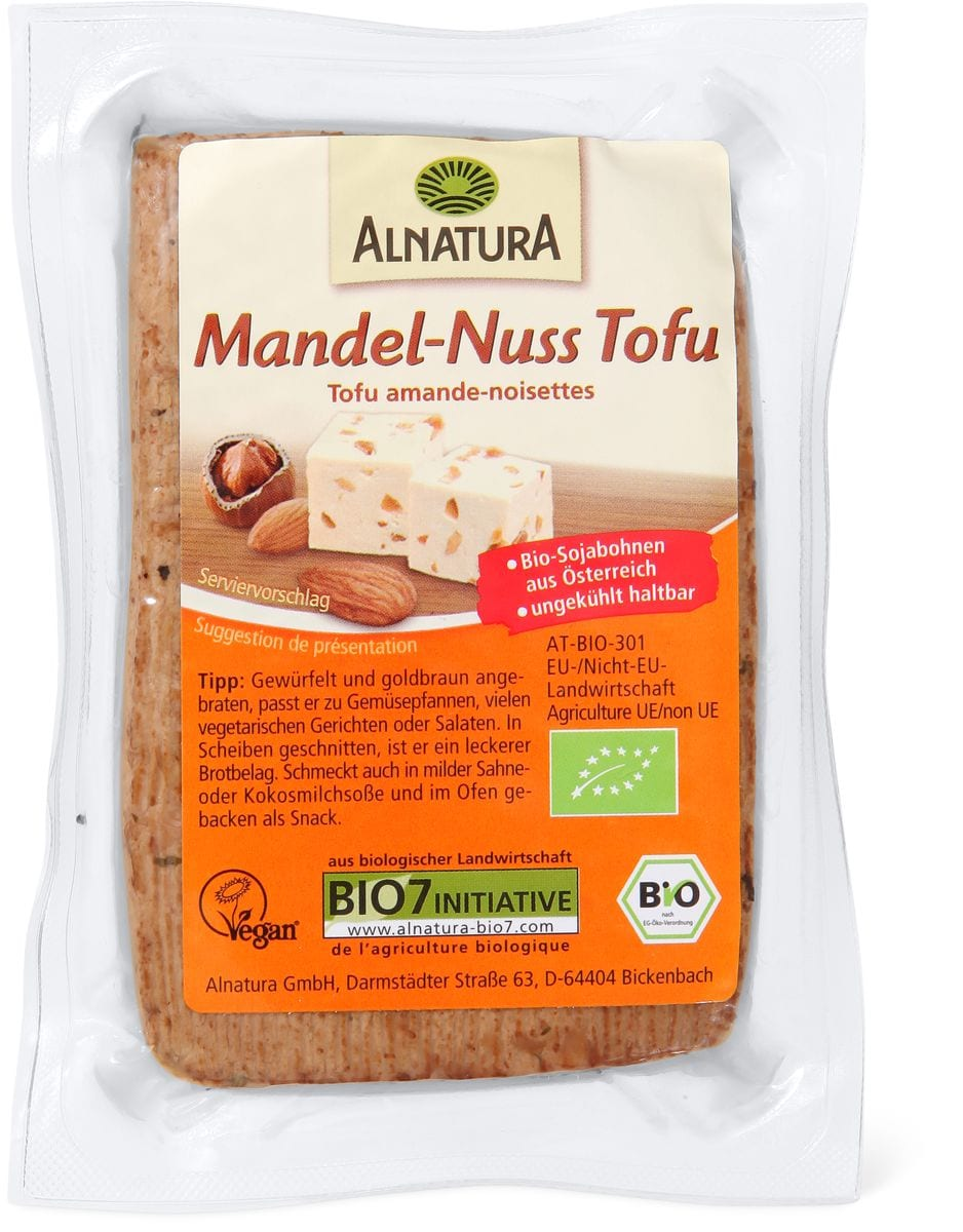 Alnatura Tofu amandes noix