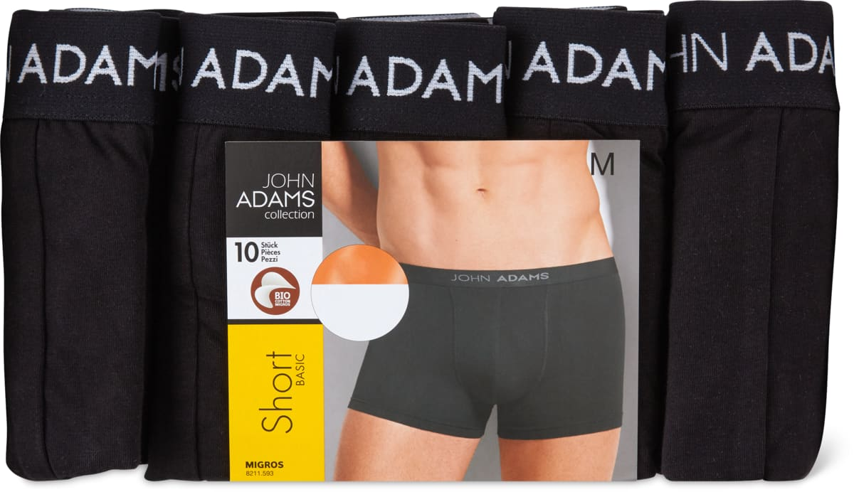 Bio John Adams Herren-Short, 10er-Pack