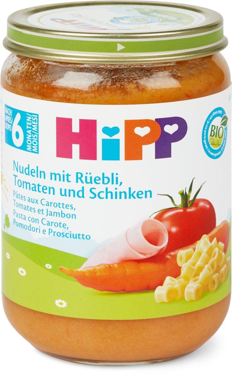 Bio HiPP Pates carot tomates&jambon