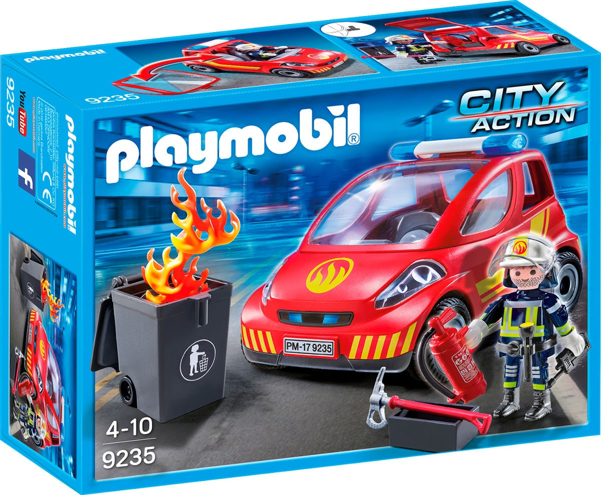 Playmobil City Action Pompier avec véhicule d'intervention 9235