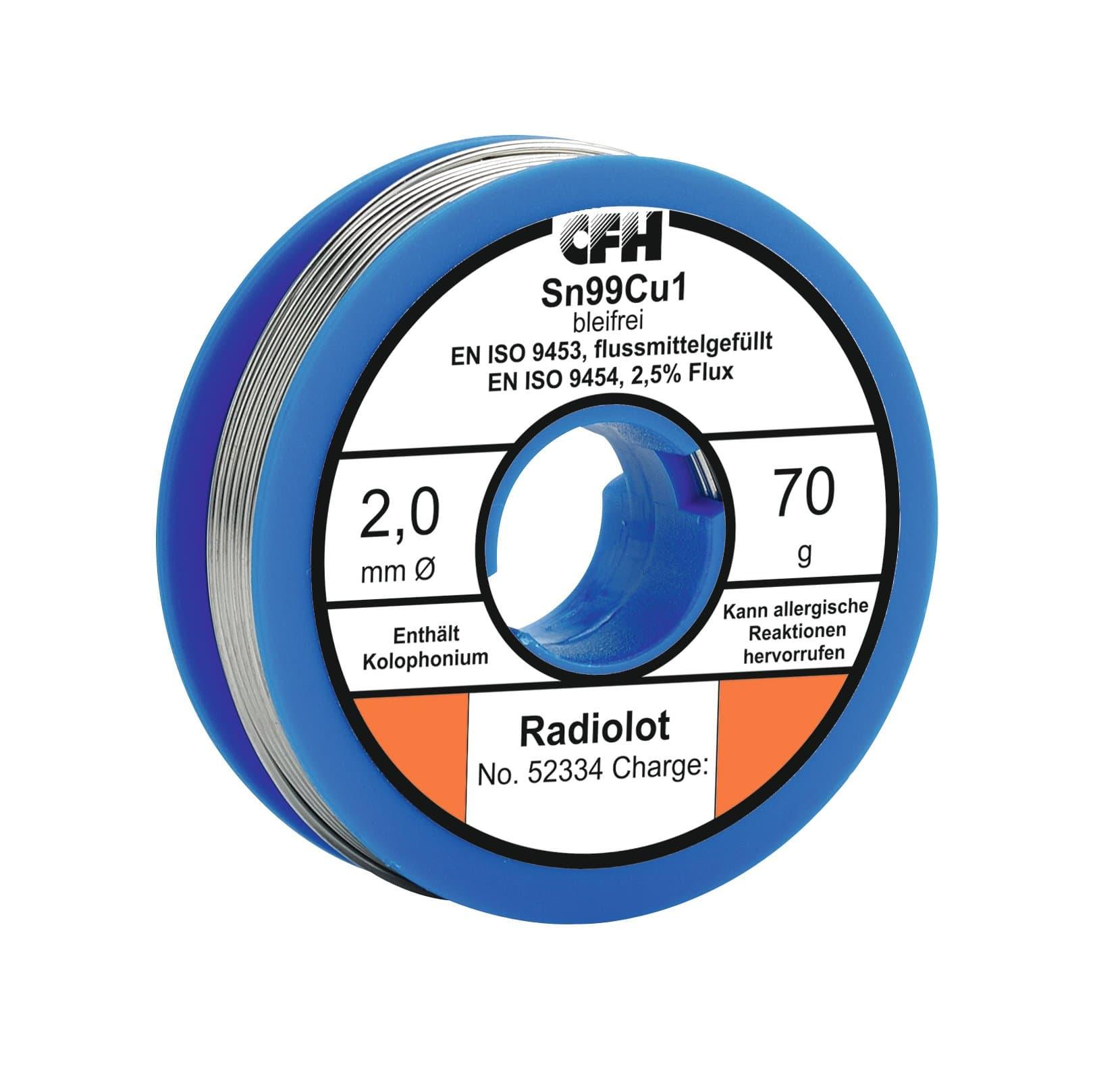 Cfh Radiolot RL 334, bleifrei, 70g Lote