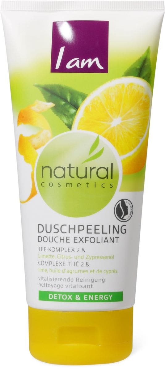 I am Natural Cosmetics douche exfoliant lime, huile d'agrumes et de cyprès