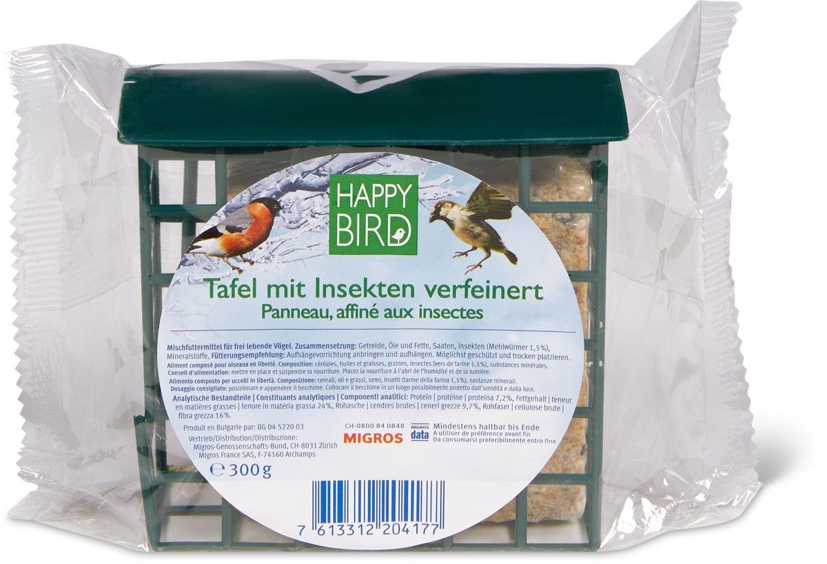 Happy Bird Tafel mit Insekten verfeinert