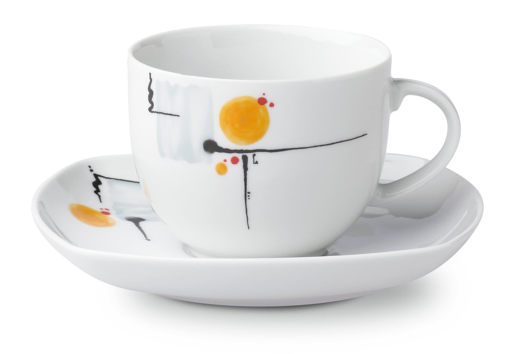 Cucina & Tavola SUNRISE Tasse à café avec sous-tasse