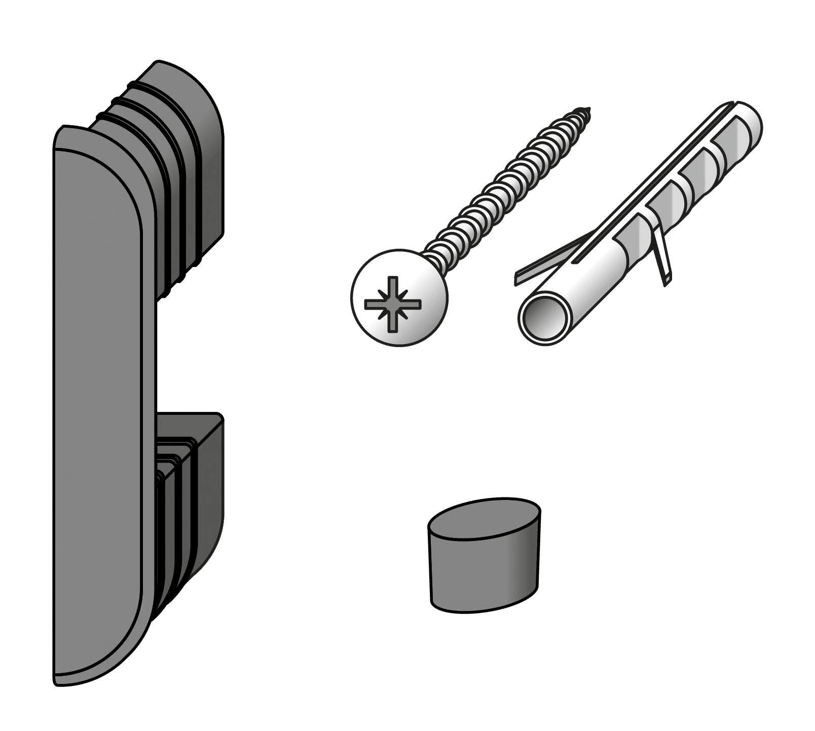 alfer coaxis®-Wand-Befestigungs-Set