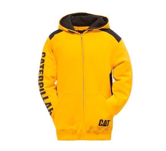 CAT Sweatshirt Logo Panel Zip