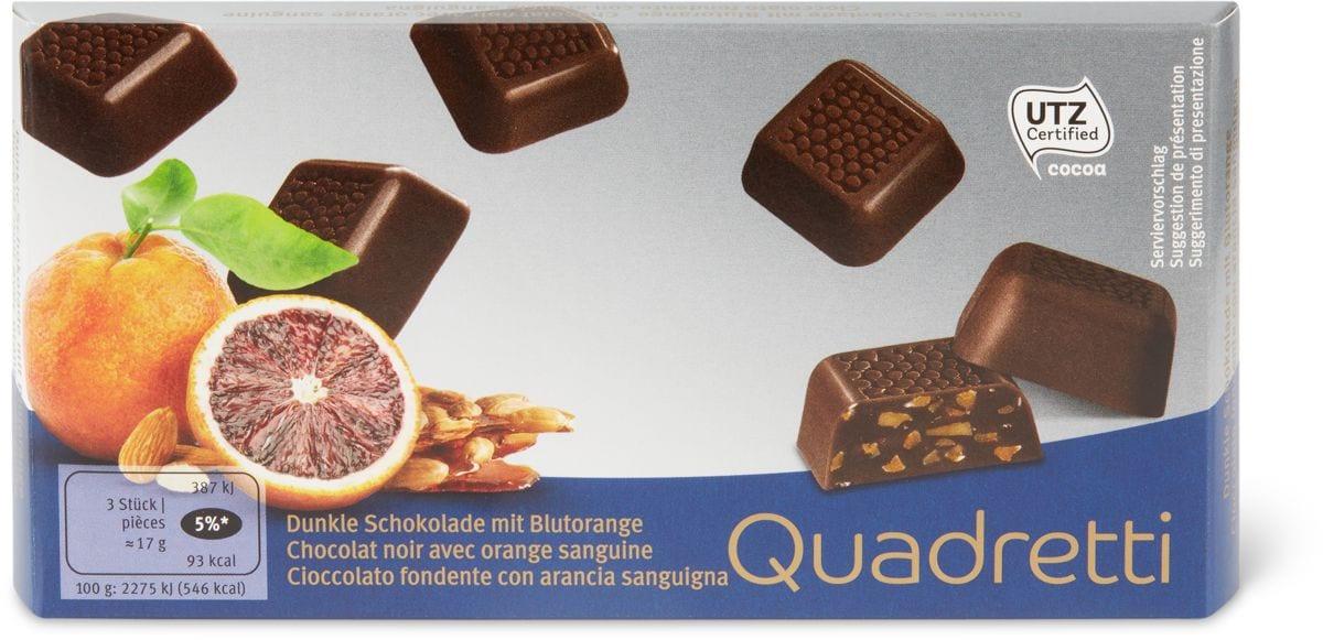Quadretti cioccolato Fond. arancia sang.