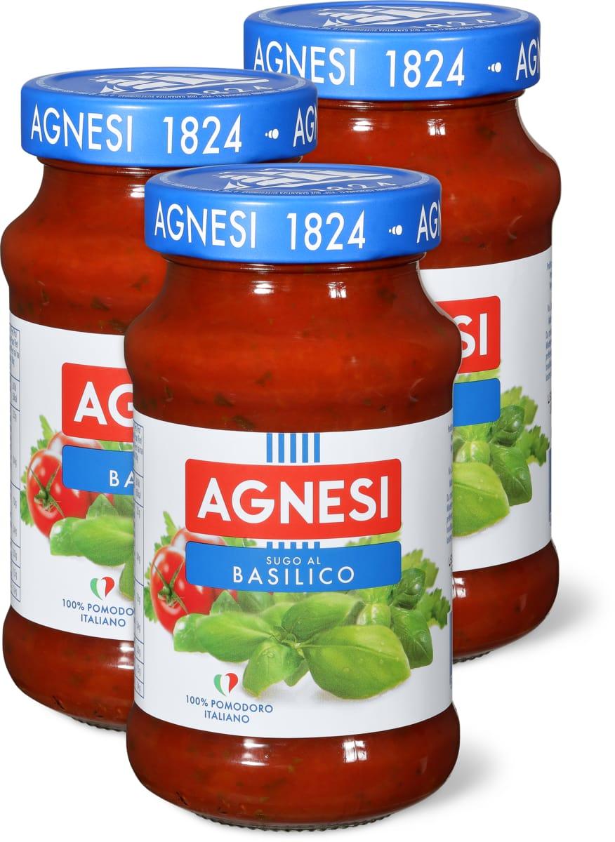 Agnesi Tomatensauce Basilico im 3er-Pack