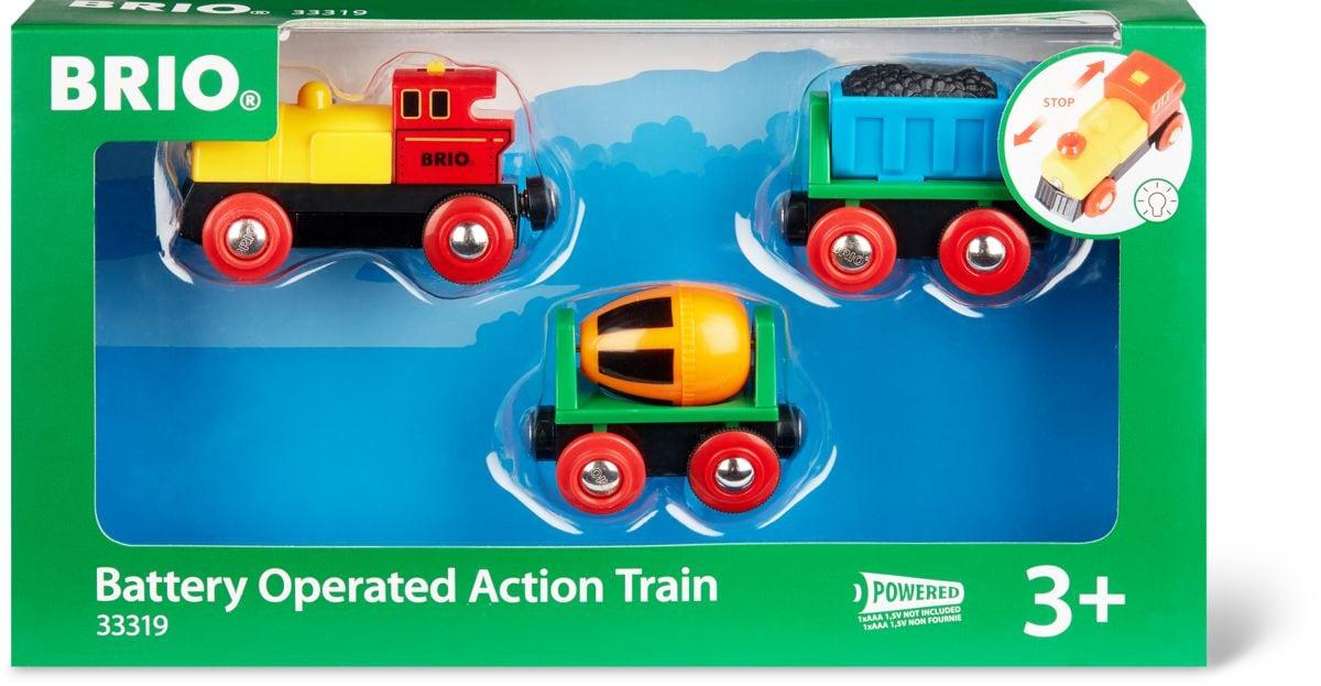 Brio Zug mit Batterielok (FSC®) Bahn