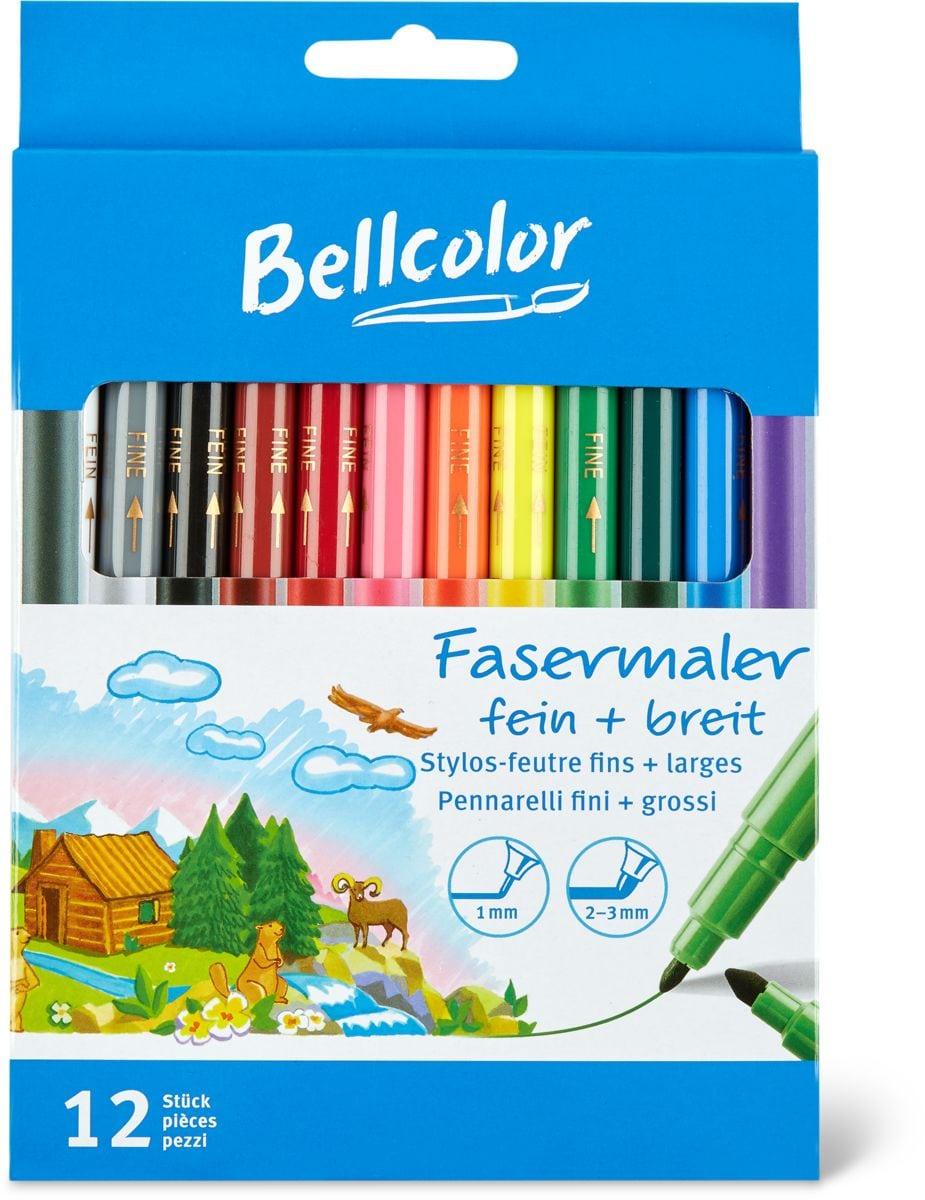 Bellcolor Fasermaler fein + breit