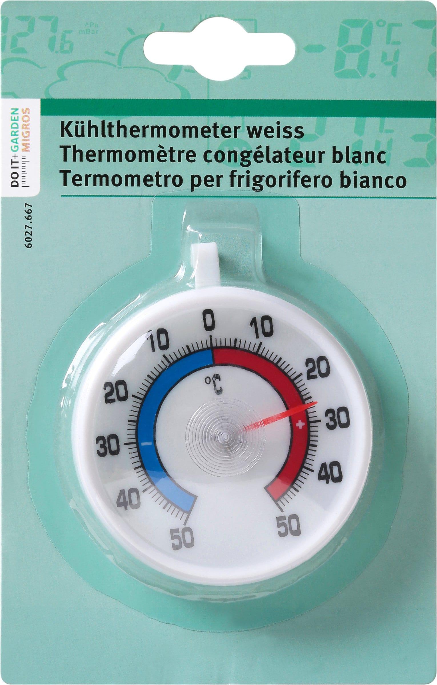 Do it + Garden Thermomètre congélateur blanc