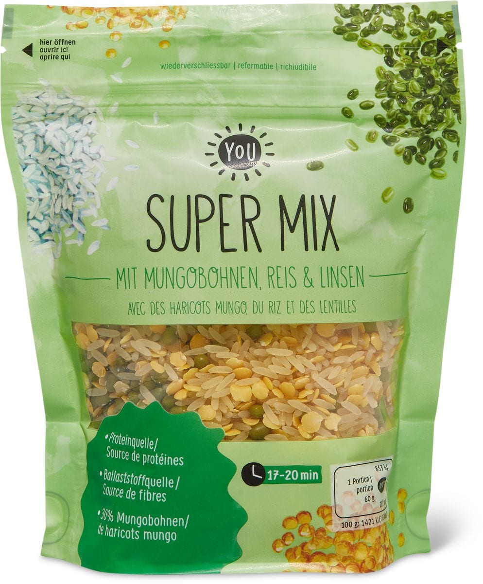 Bio YOU super mix Haricots mungo, riz