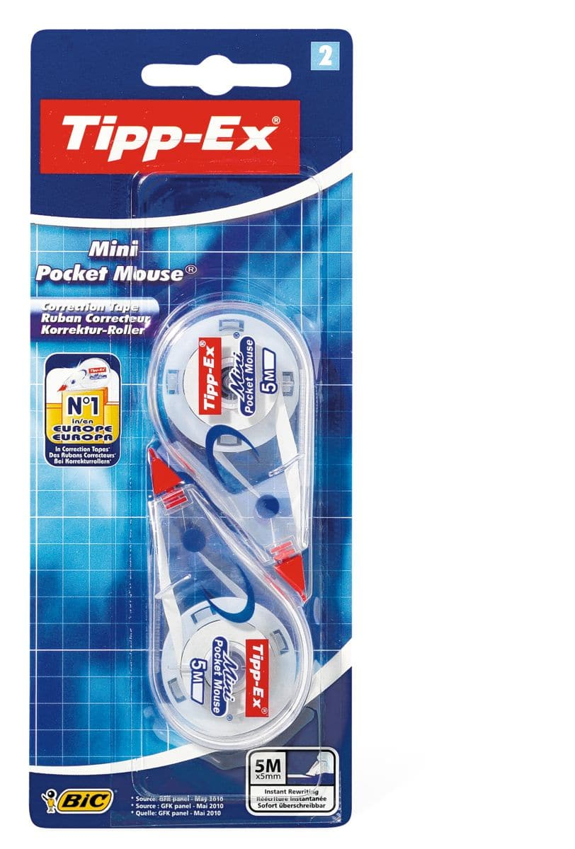 Bic BiC Tipp-Ex Mini Pocket Mouse 2 Stk.