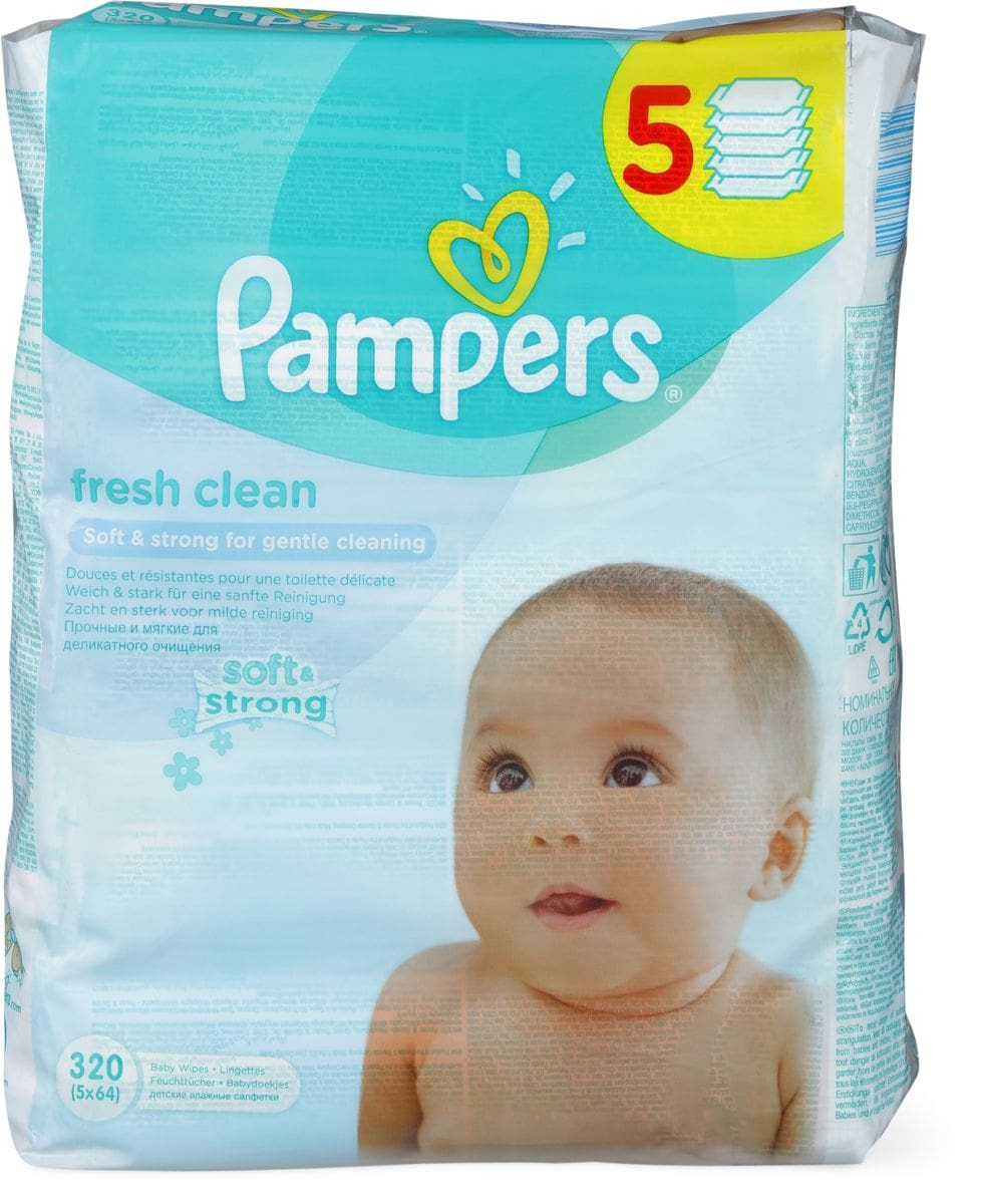 PAMPERS FEUCHTTUECHER BABYFRESH 5X64