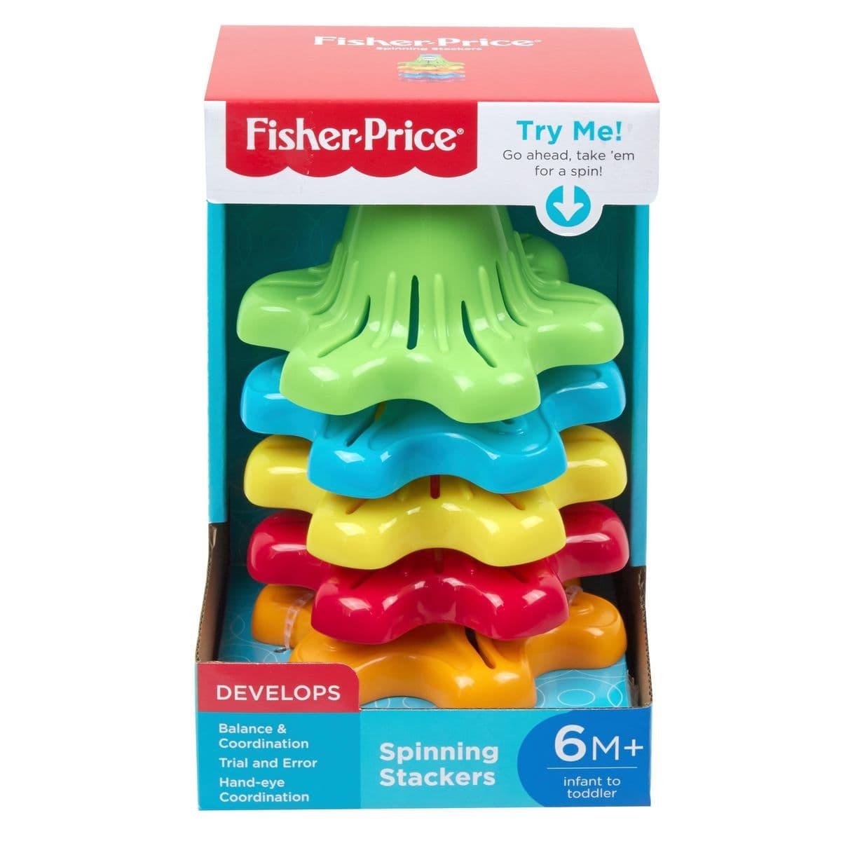 Fisher-Price FYL38 Bunte Stapelkeisel Lernspiel