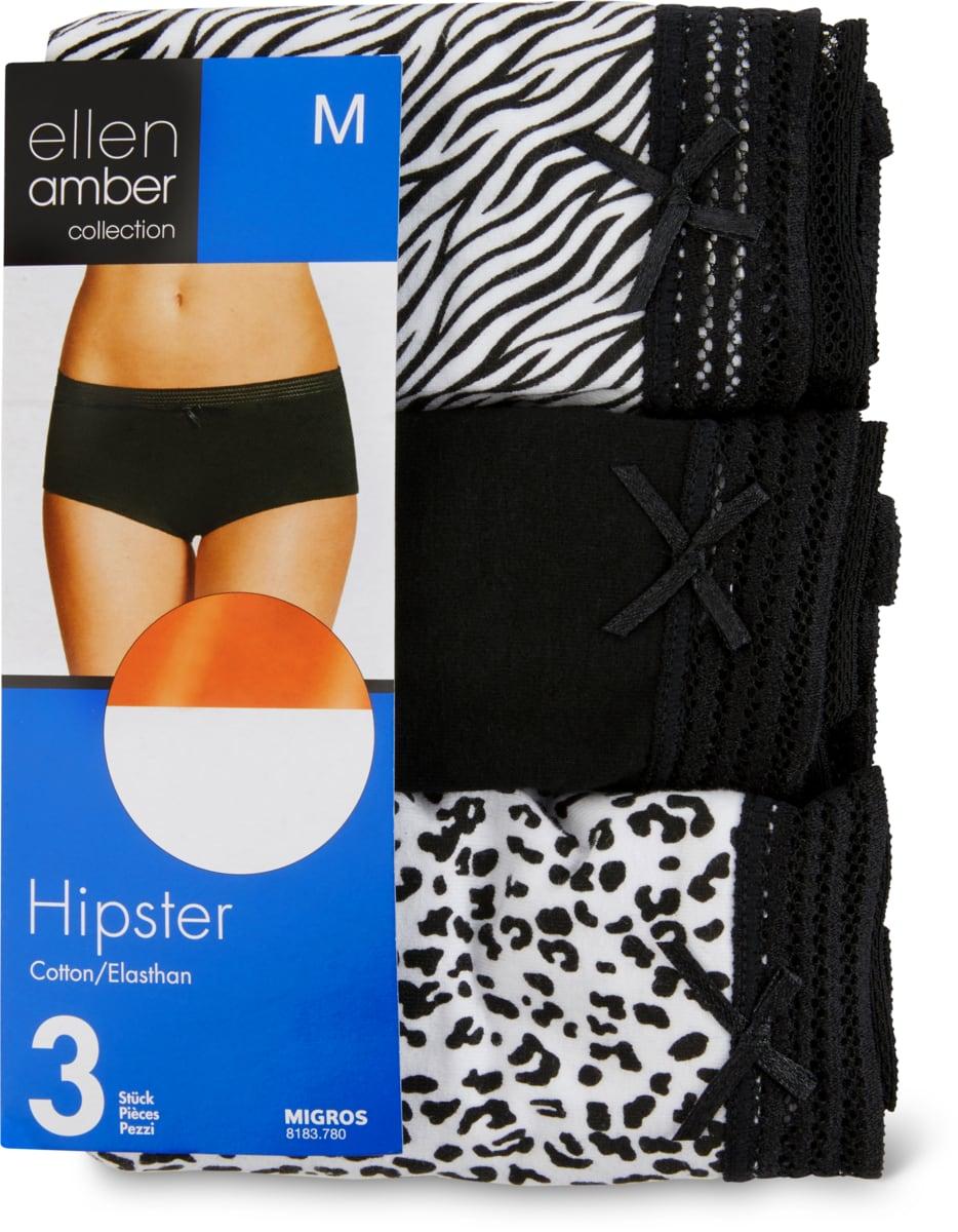 Ellen Amber Damen-Hipster im 3er-Pack