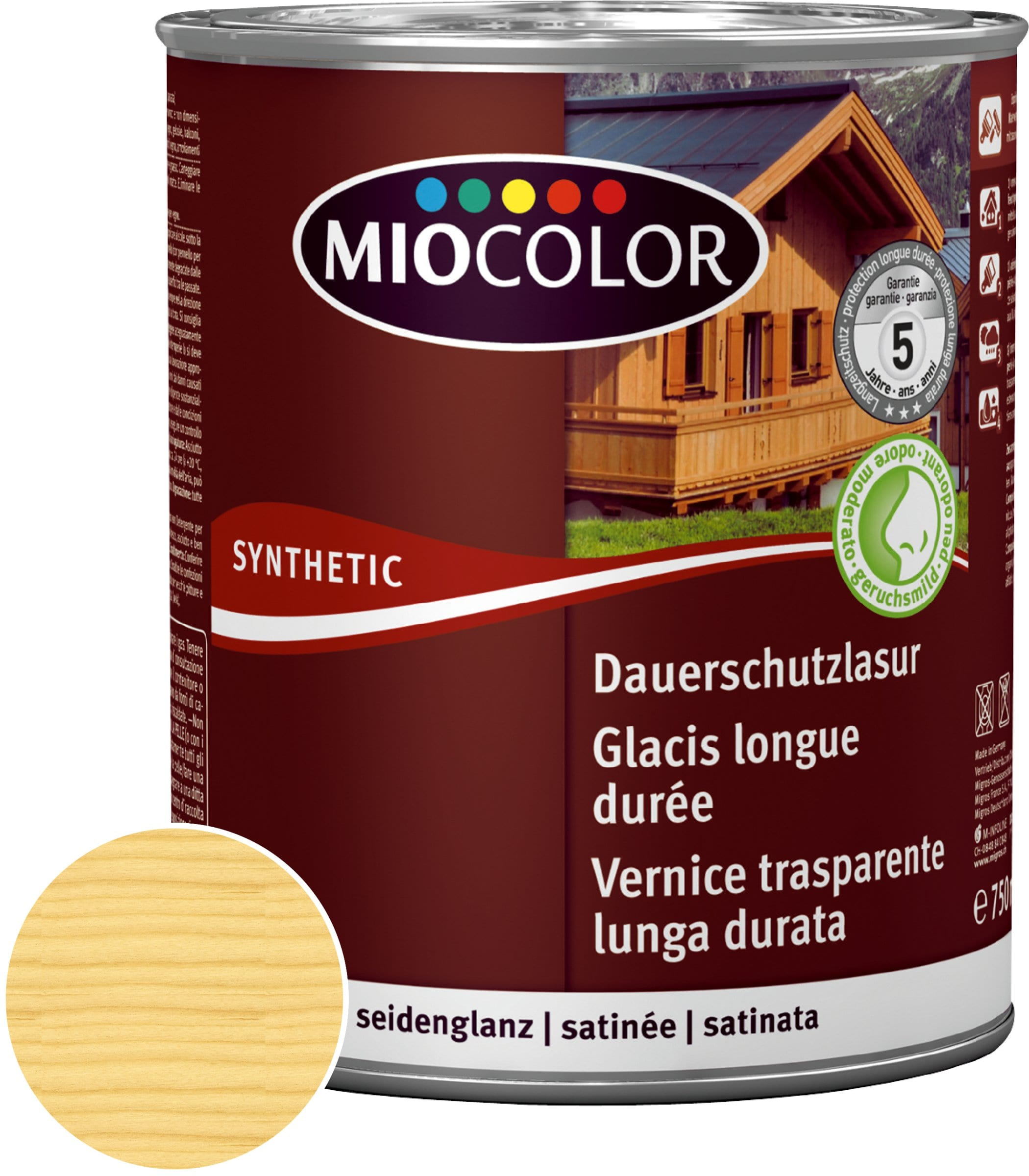 Miocolor Vernice trasparente lunga durata Incolore 750 ml