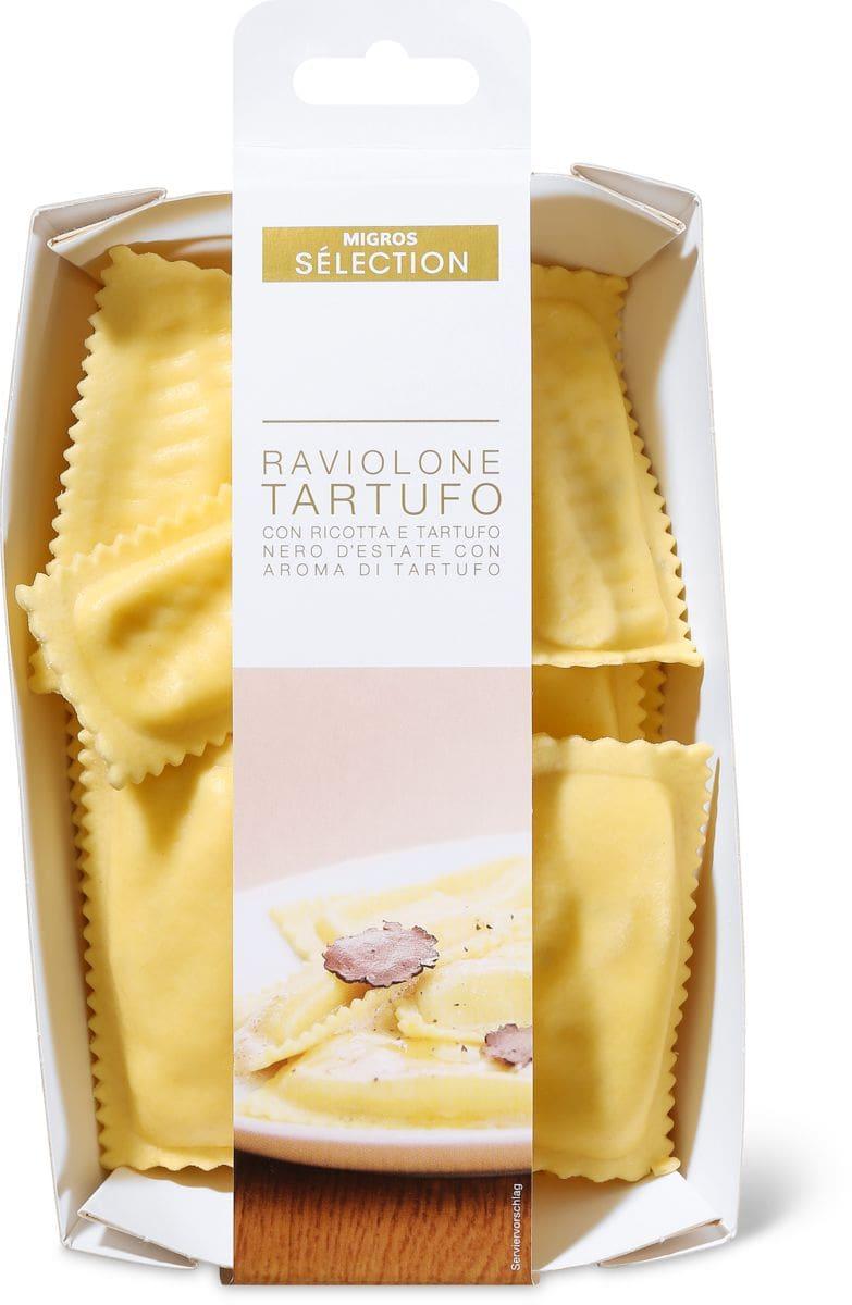 Sélection Raviolone ricotta e tartufo