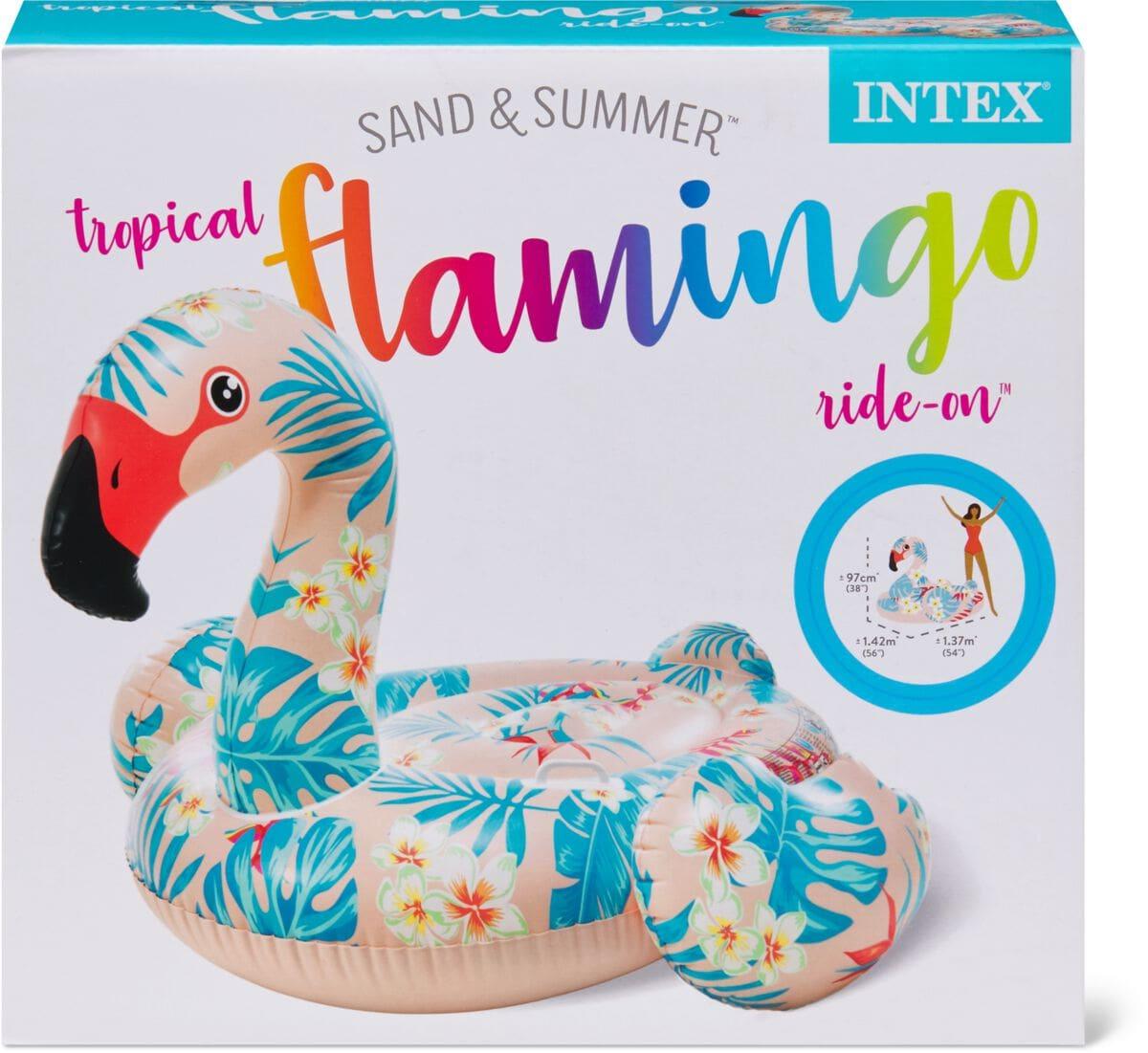 Intex Tropical Flamingo Ride on Materassini ad aria