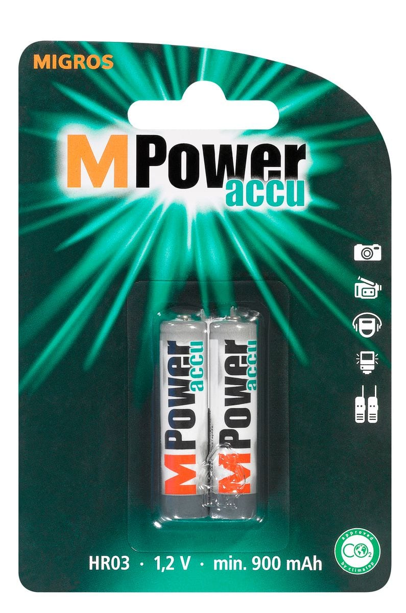 M-Power Akku HR03 1.2V 900mAh