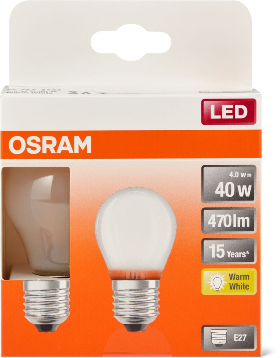 Osram LED BASE MATT CLAS P 40 E27