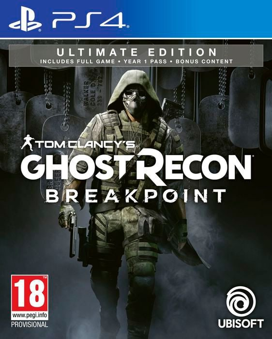 PS4 - Tom Clancy's Ghost Recon: Breakpoint - Ultimate Edition Box