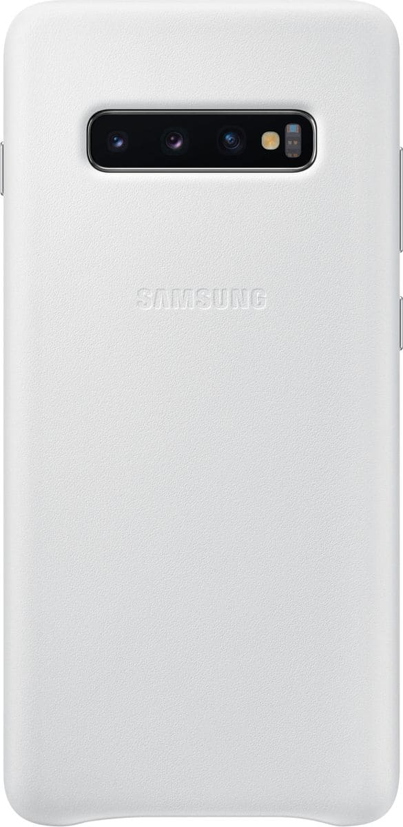 Samsung Leather Cover White Coque