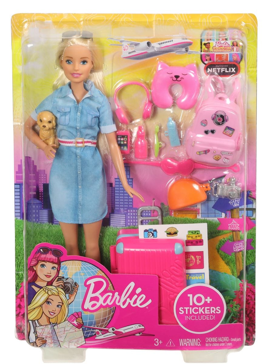 Barbie FWV25 Travel Bambola Set di bambole