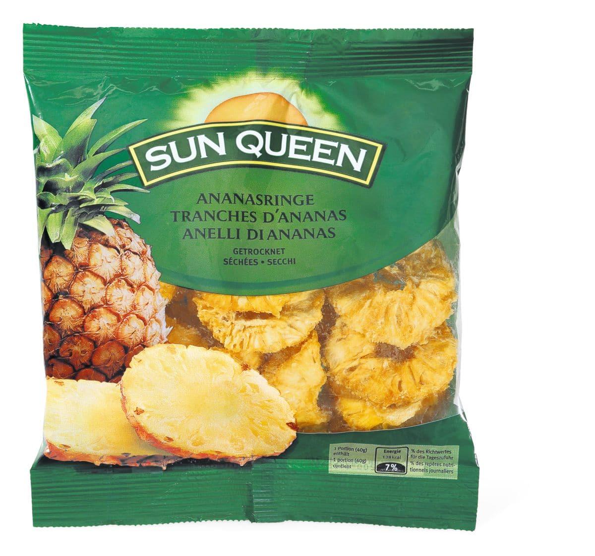 Sun Queen Tranches d'ananas séchées