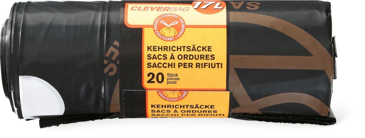 Sacchi per rifiuti Cleverbag in rotolo, 17 l