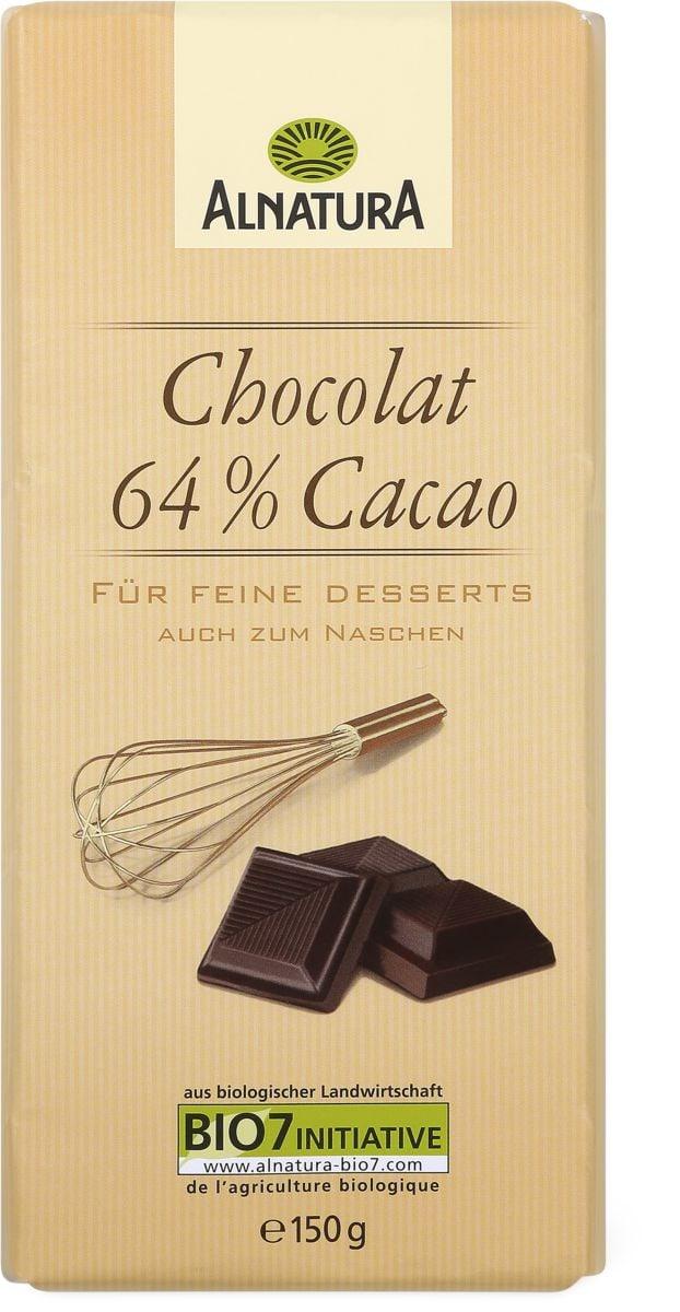 Alnatura chocolat 64% cacao