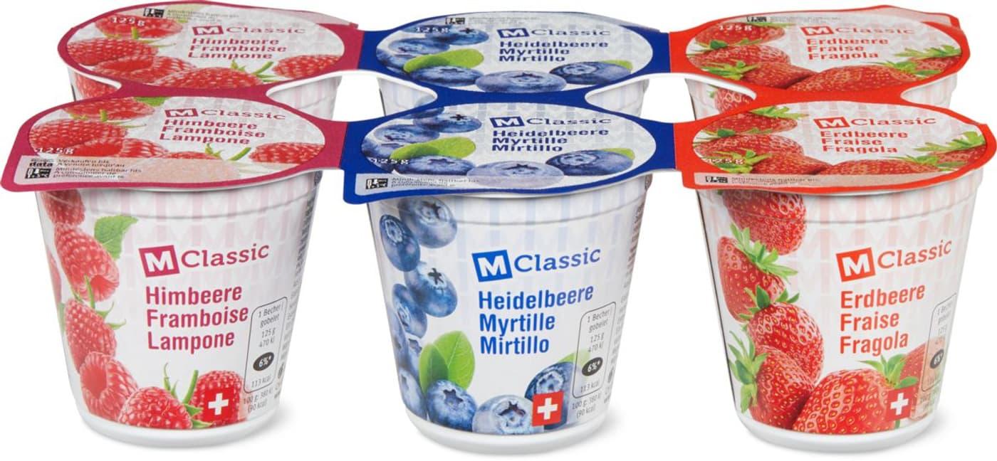 M Classic Joghurt Erdb./Heidelb./Himb.   Migros