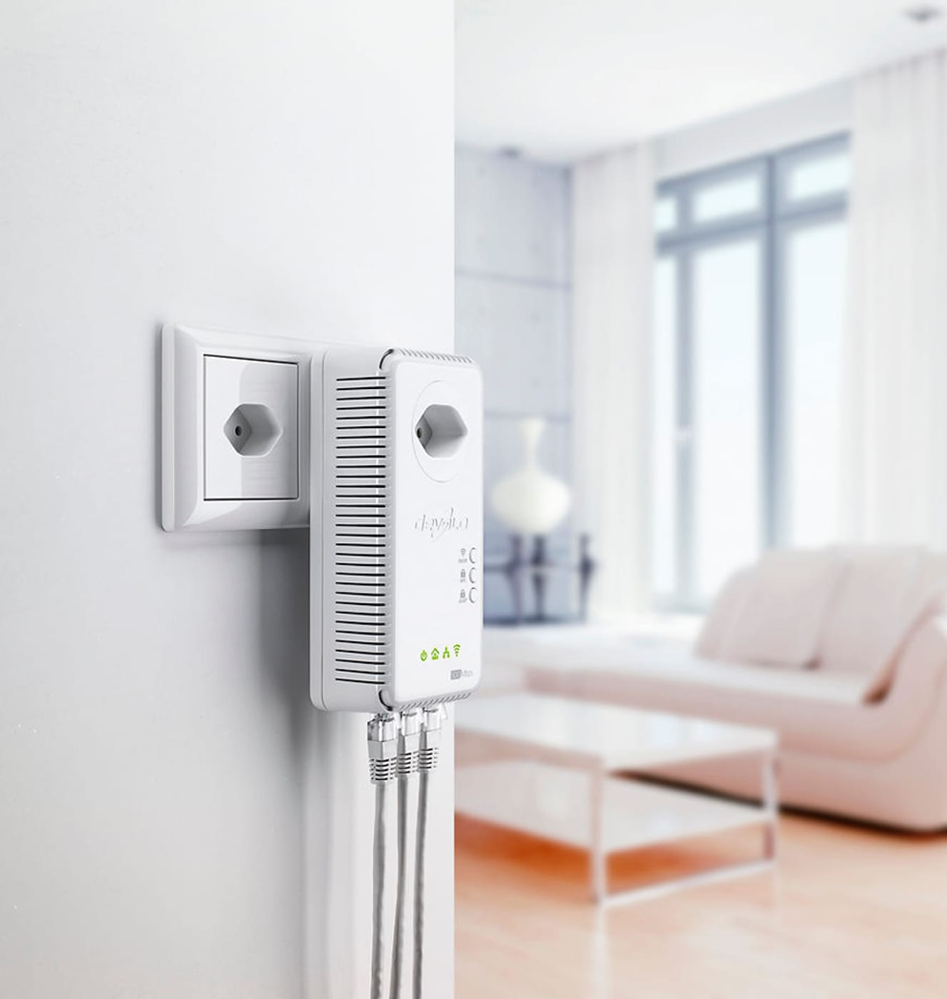 devolo dlan 500 av wireless powerline starter kit migros. Black Bedroom Furniture Sets. Home Design Ideas