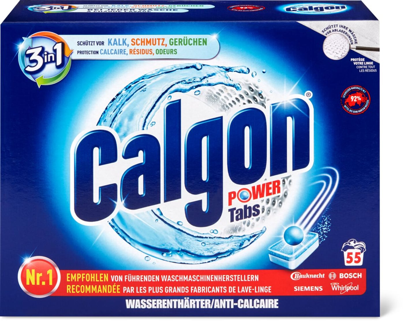 Waschmaschine anwendung tabs calgon Waschmaschine reinigen