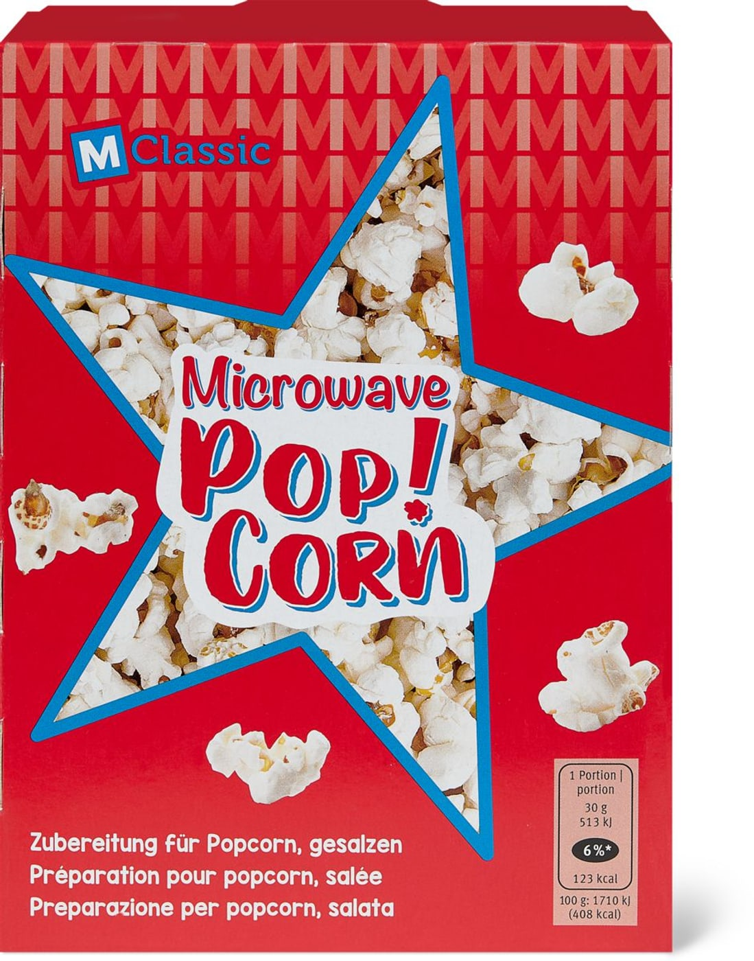 M Classic Microwave Popcorn Gesalzen Migros