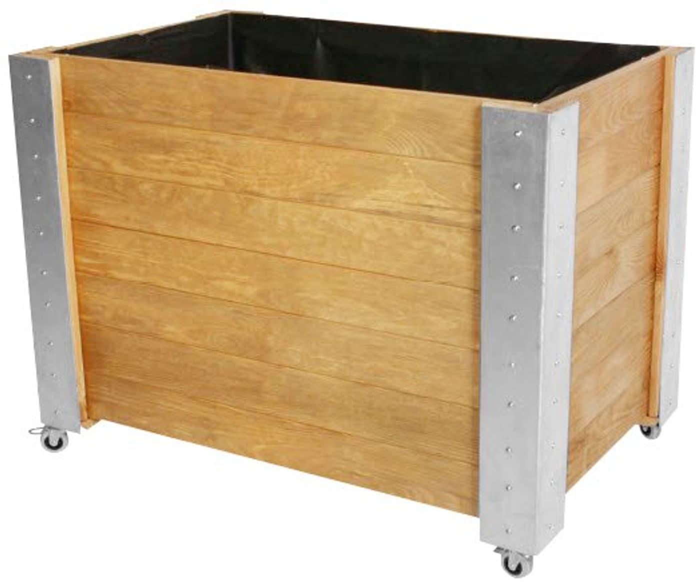 do it garden hochbeet kiefernholz auf rollen migros. Black Bedroom Furniture Sets. Home Design Ideas