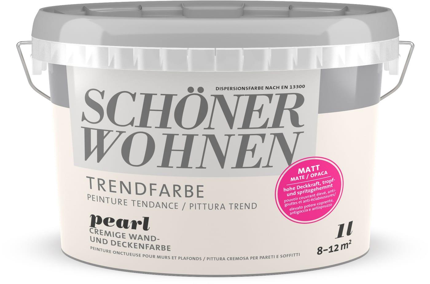 Schoner Wohnen Trend Wandfarbe Matt Pearl 1 L Migros