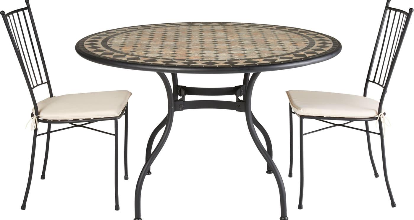 mosaik tisch ronda 120 cm migros. Black Bedroom Furniture Sets. Home Design Ideas
