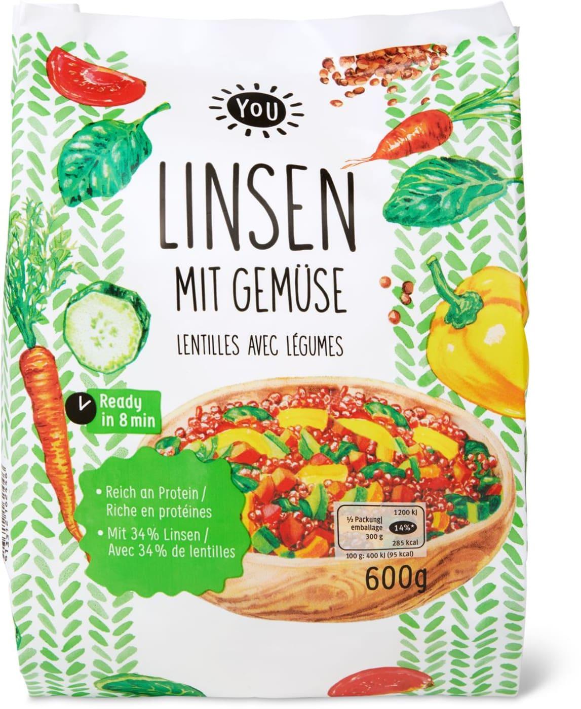 YOU Linsen mit Gemüse | Migros