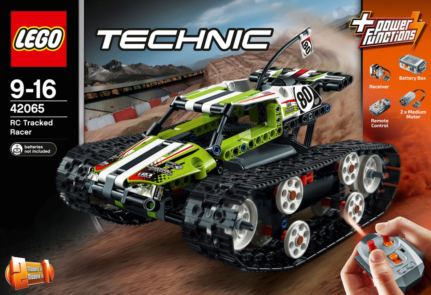 lego technic ferngesteuerter tracked racer 42065 migros. Black Bedroom Furniture Sets. Home Design Ideas