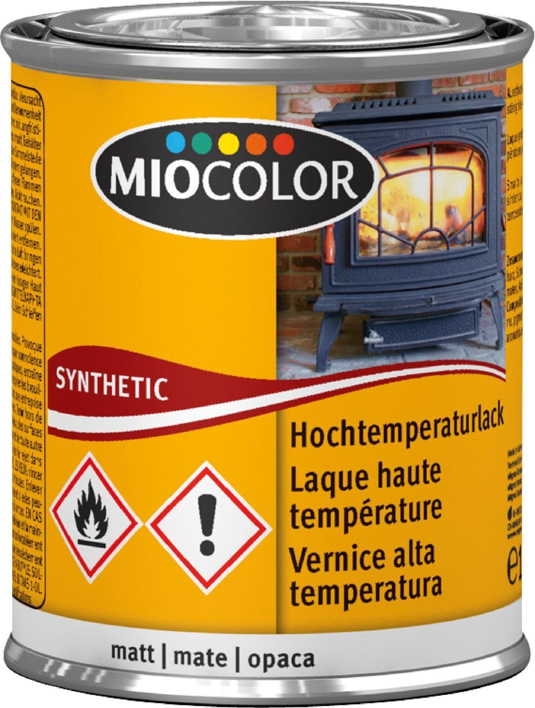 Peinture Laque Noir Mat miocolor mc laque haute température mate noir 125 ml