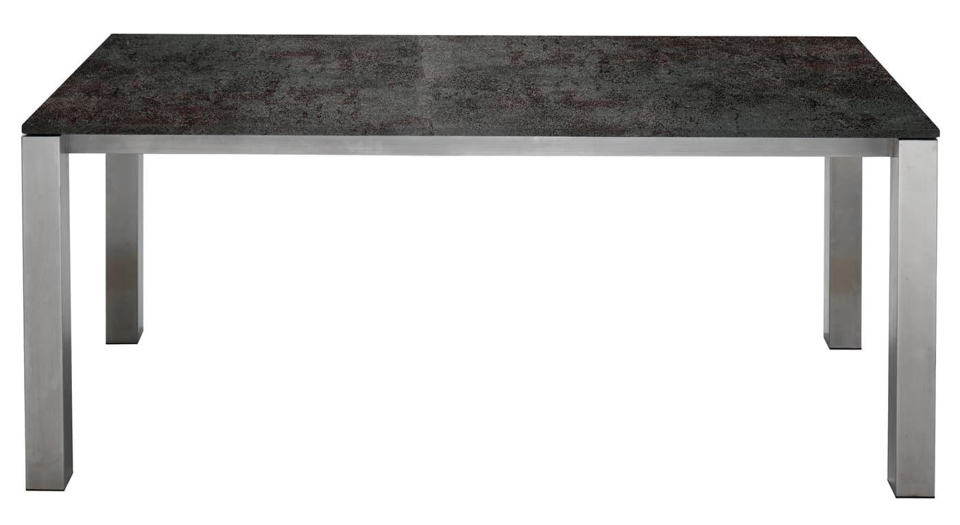 Table c ramique kano 220 cm migros for Table exterieur ceramique