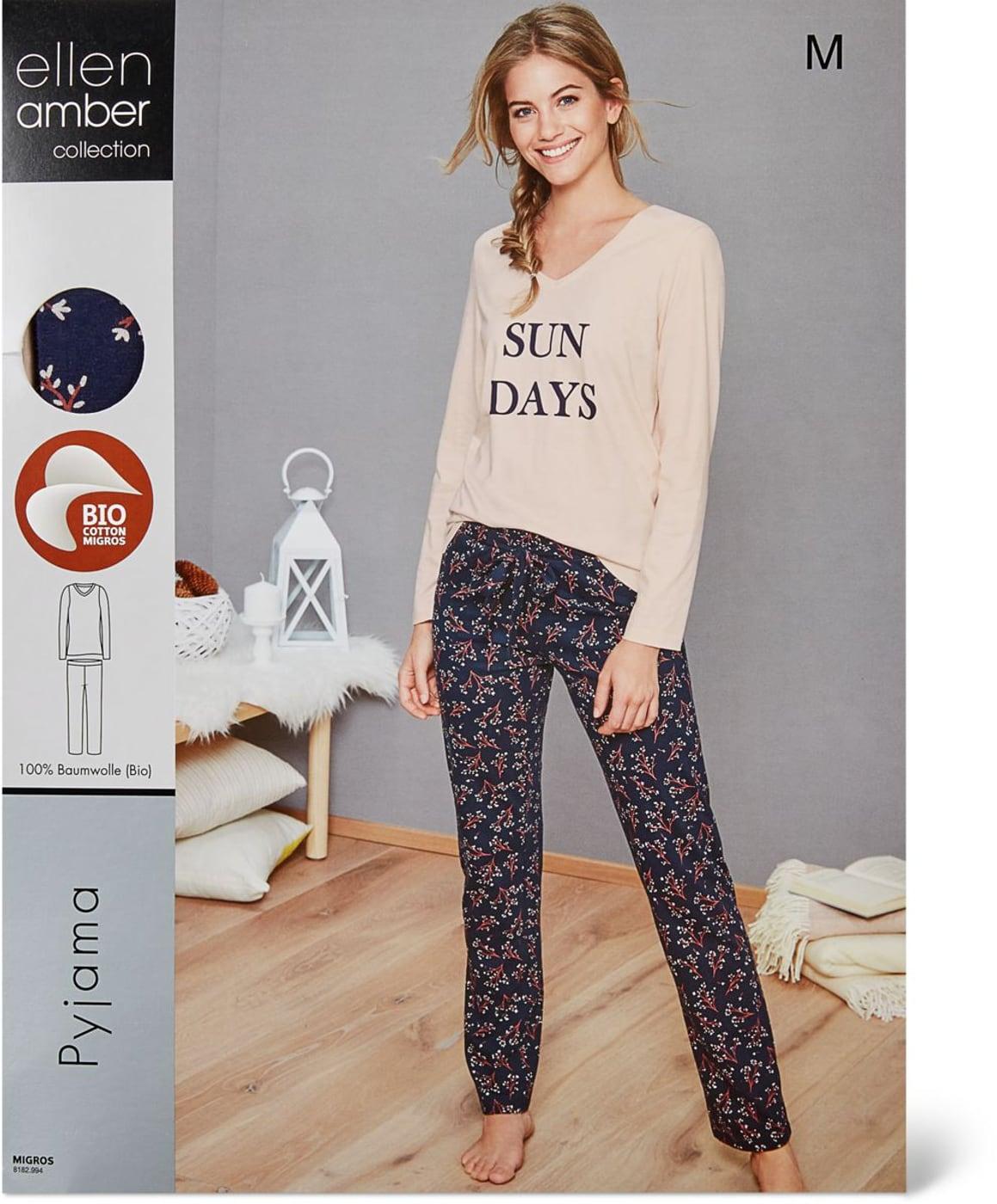 huge selection of 91462 54e43 Damen Pyjama puder