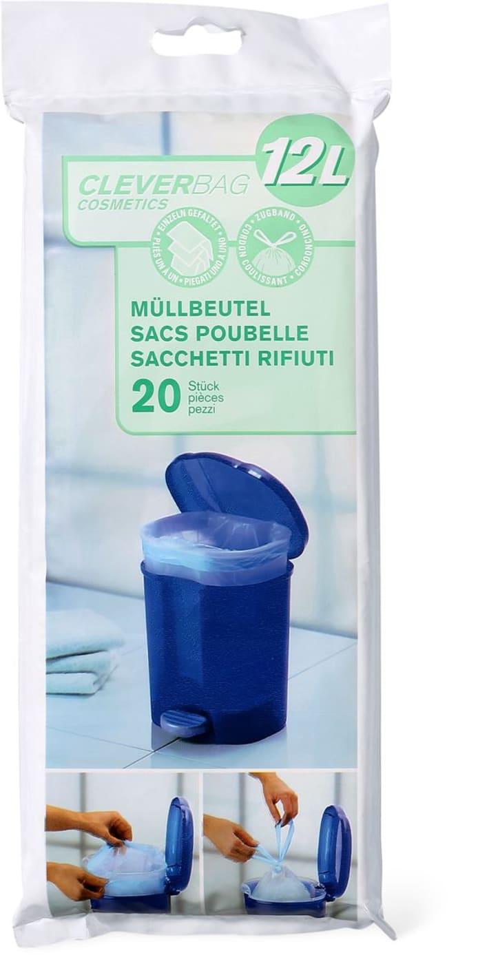 Sacs Pour Poubelle De Salle De Bain Cleverbag Cosmetics 12 L Migros